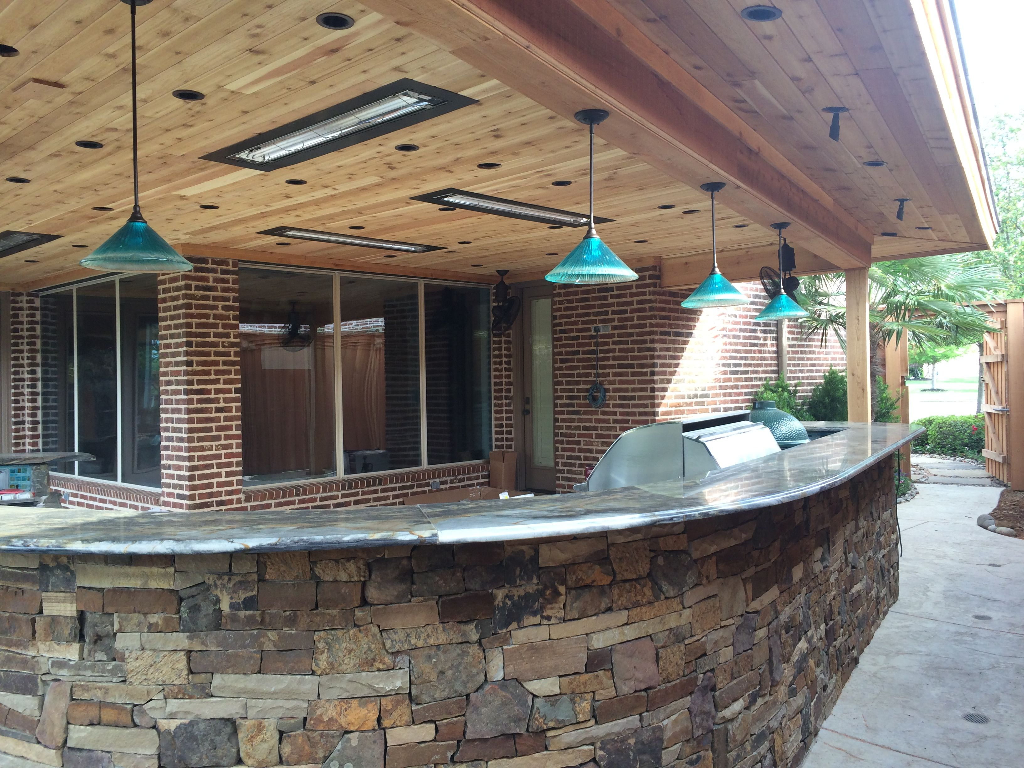 modern light fixtures installed by dallas landscap outdoor kitchen lighting Dallas Landscape Lighting installed these Toltec light fixtures in our Rockwall TX customer s outdoor kitchen