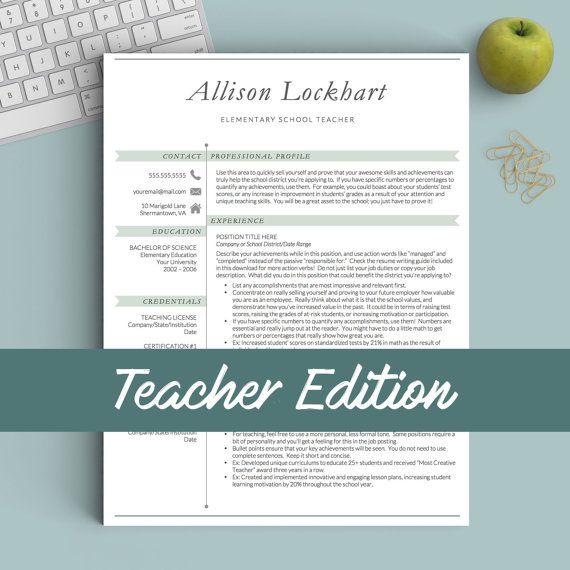 Resume for teachers \/ Educator resume template \/ principal resume - educator resume template