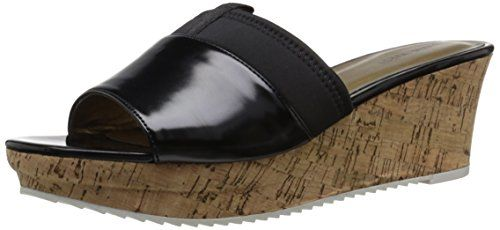 Nine West Women's Clariot Synthetic Wedge Sandal