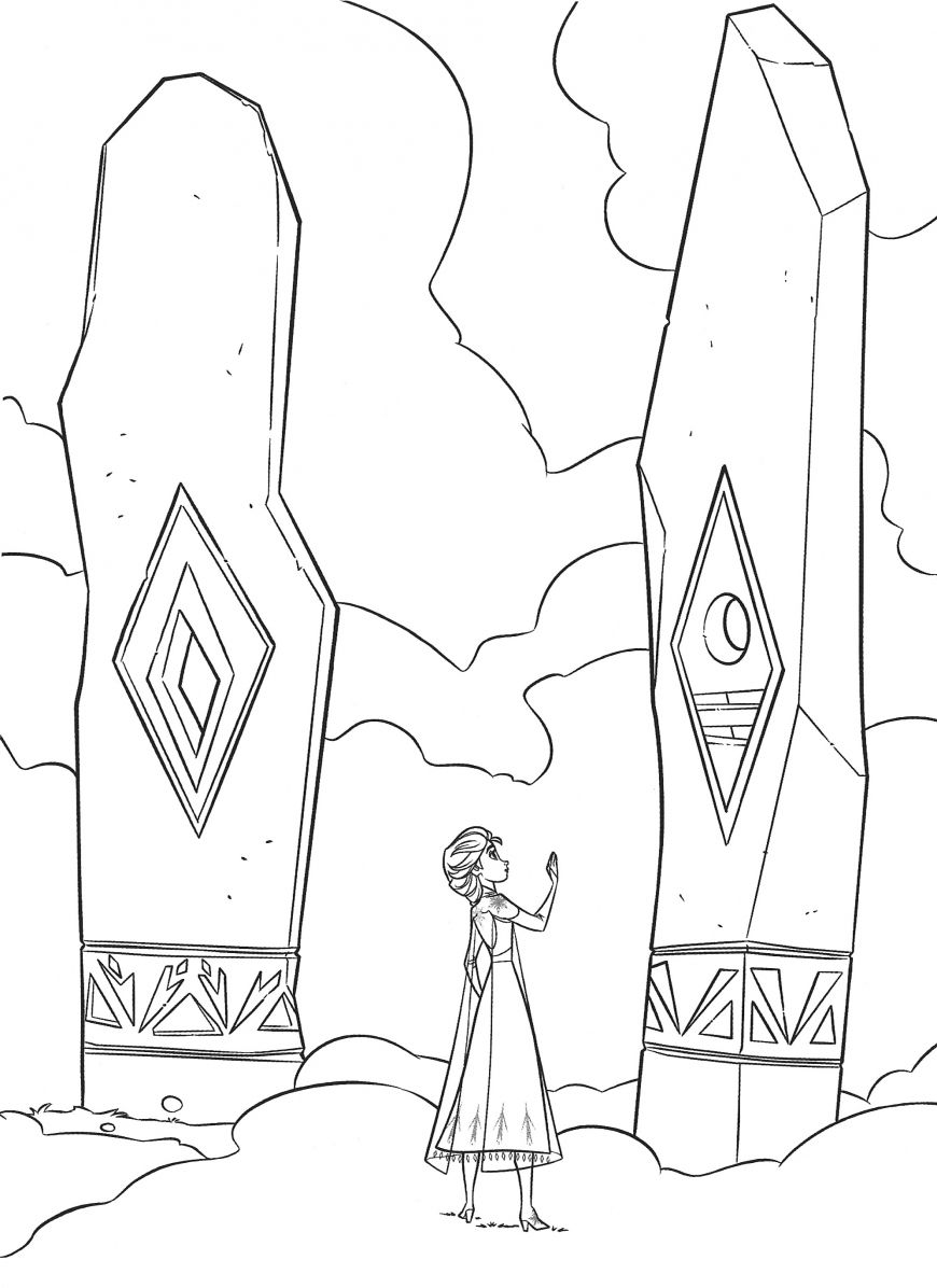 Frozen 2 free coloring pages with Elsa in 2020 Elsa