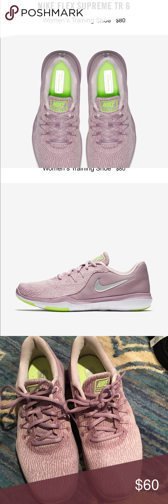 fb12fc61399 Nike sneakers Worn once Nike flex supreme TR6 sneakers. Beautiful blush  color