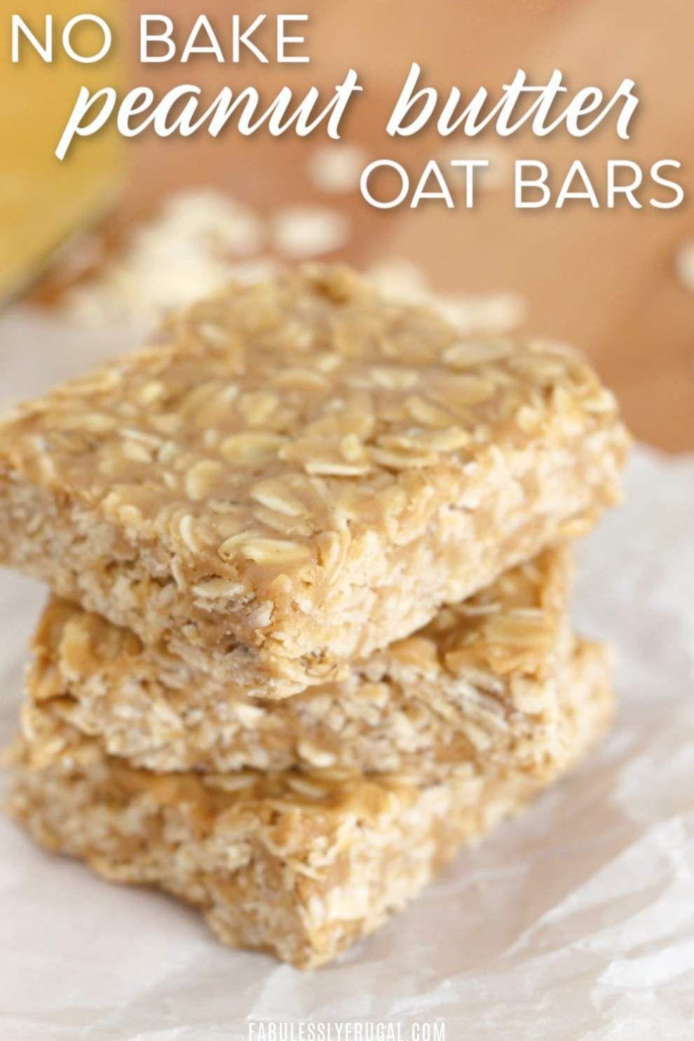 Healthy No Bake Peanut Butter Oat Bars Recipe Fabulessly Frugal Recipe Oat Bar Recipes Peanut Butter Recipes Peanut Butter Oat Bars