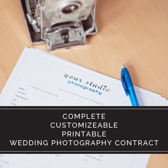 Complete Wedding Photography Contract Agreement For Photographers - business contract agreement
