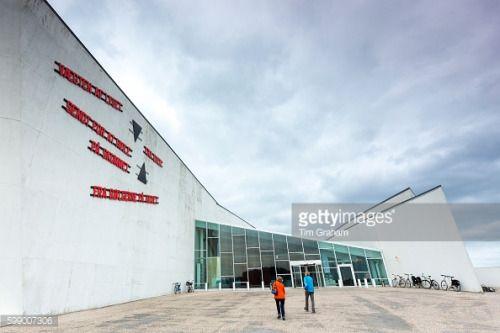Visitors Arriving At Arken Museum Of Modern Art Arken