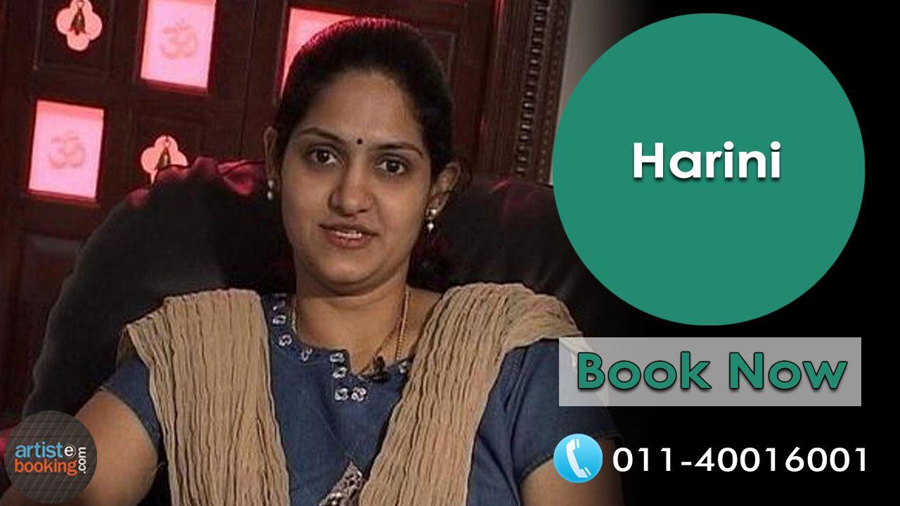 Book Harini @artistebooking #artistebooking #Harini #Singer . For Contact Call : 011-40016001