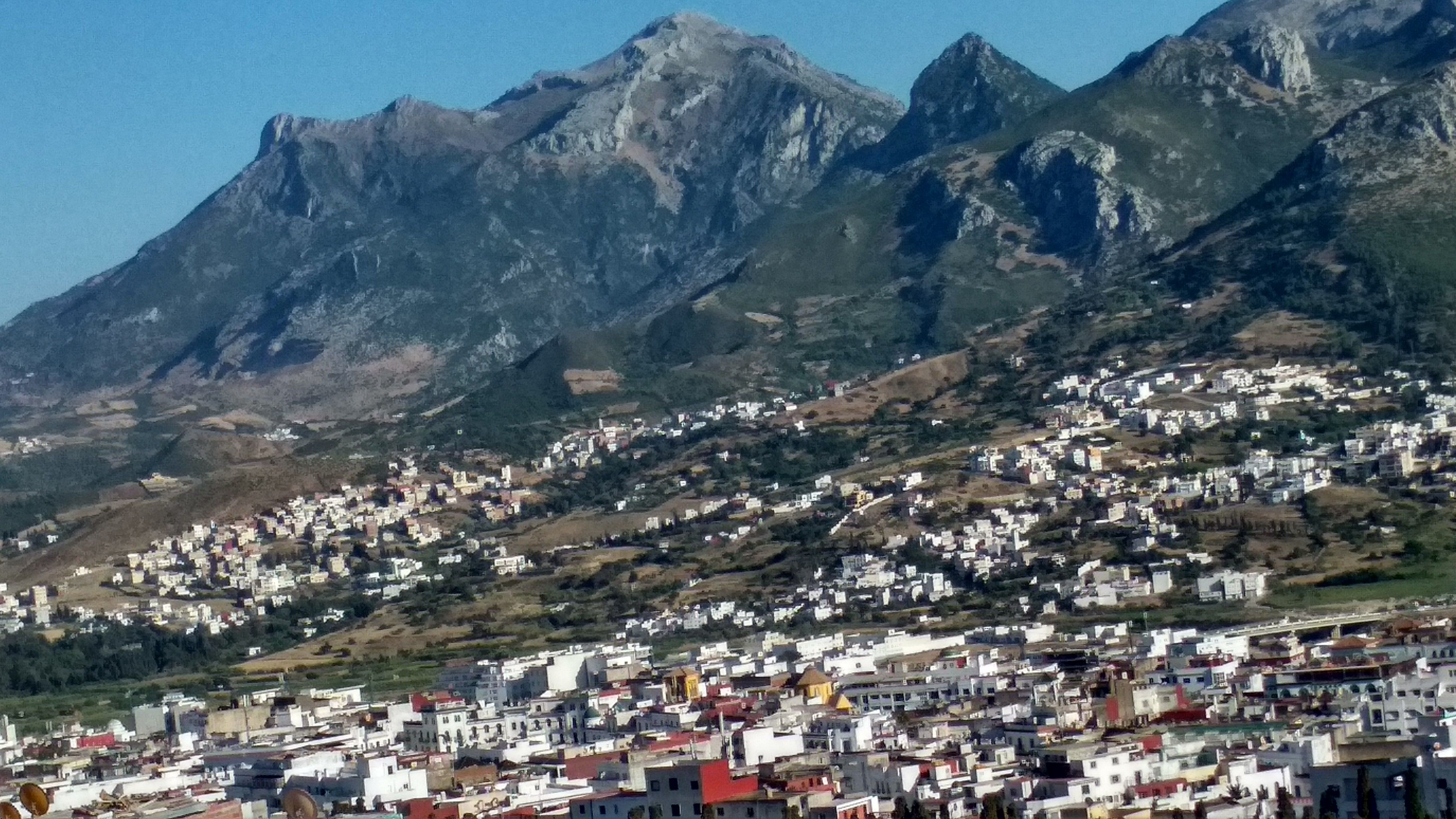 A View On Ghorghiz Mountain From Dersa Mountain Tetouan صورة لجبل غرغيز من جبل درسة تطوان Natural Landmarks Pictures Landmarks