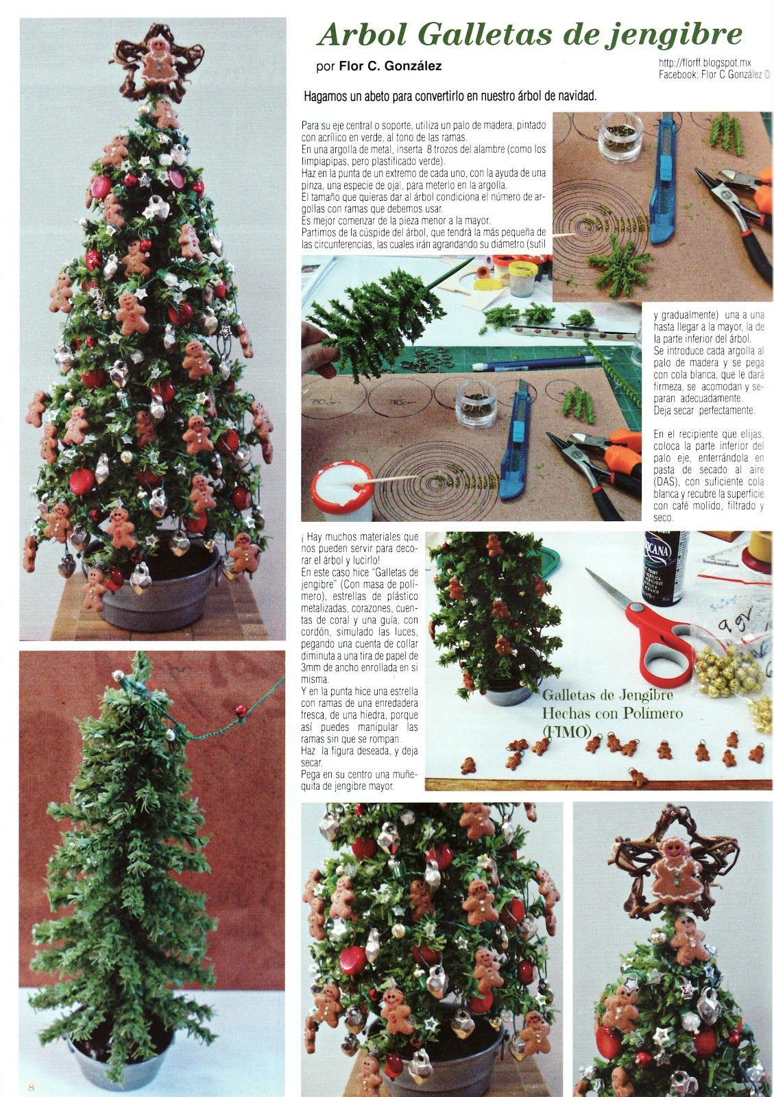 How To Mini Christmas Tree With Gingerbread Ornaments