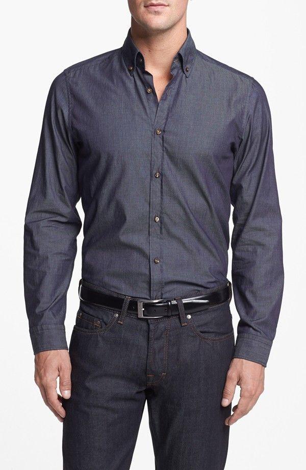 8f53a1d6a BOSS HUGO BOSS 'Leonard' Denim Sport Shirt   Hugo Boss   Mens ...