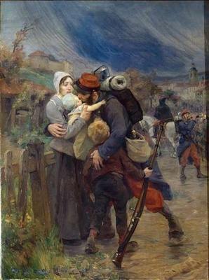 Le départ au front en 1914 | Les arts, Histoire, Peinture classique