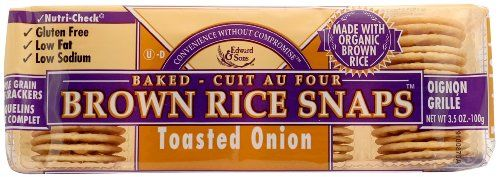 Brown Rice Snaps, Toasted Onion with Organic Brown Rice, 3.5-Ounce Packs (Pack of 12) - http://goodvibeorganics.com/brown-rice-snaps-toasted-onion-with-organic-brown-rice-3-5-ounce-packs-pack-of-12/