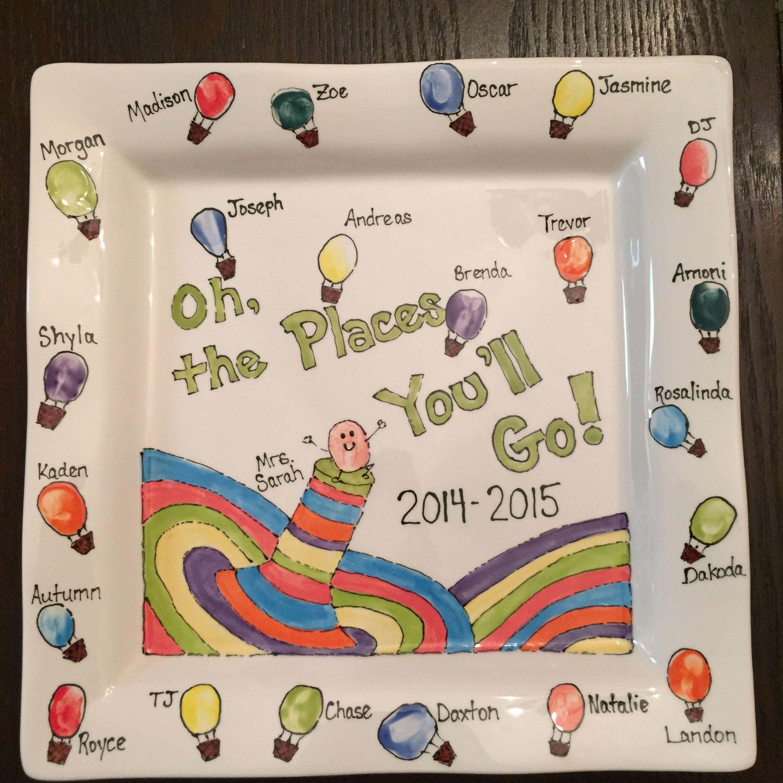Classroom Gift Ideas ~ Fingerprint pottery dr seuss class gifts gala silent