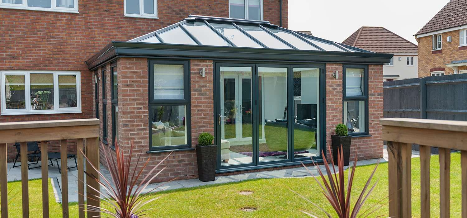 Coloured orangeries from clearview home improvements for Garden rooms extensions designs