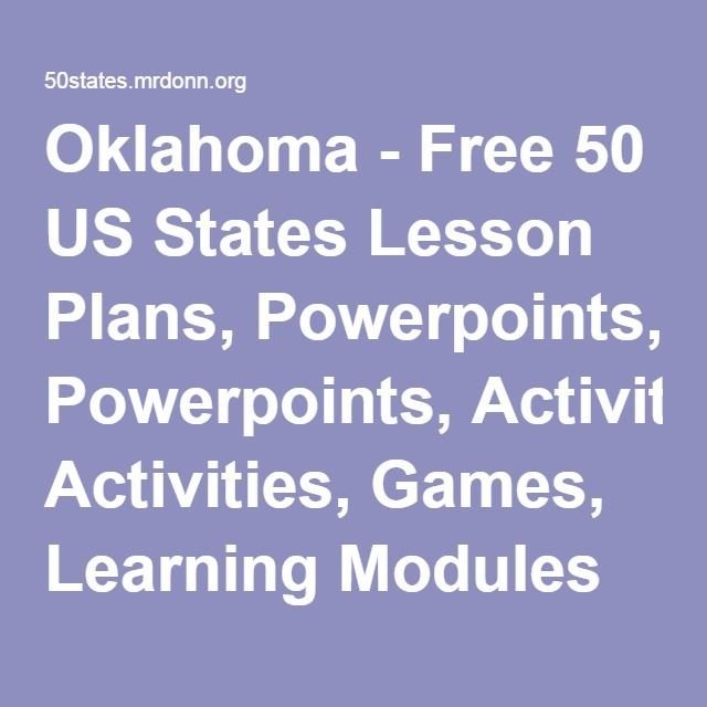 Oklahoma - Free 50 US States Lesson Plans, Powerpoints, Activities - sample physical education lesson plan template