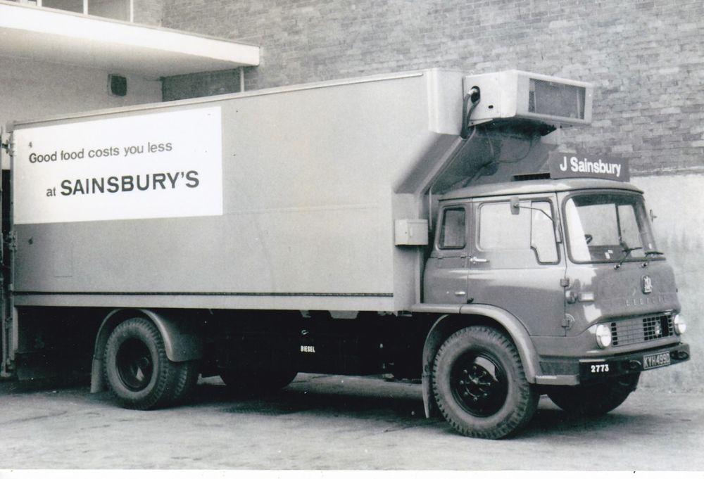 B W Photo Sainsbury S Bedford Tk 4 Wheel Fridge Box Van Kyh