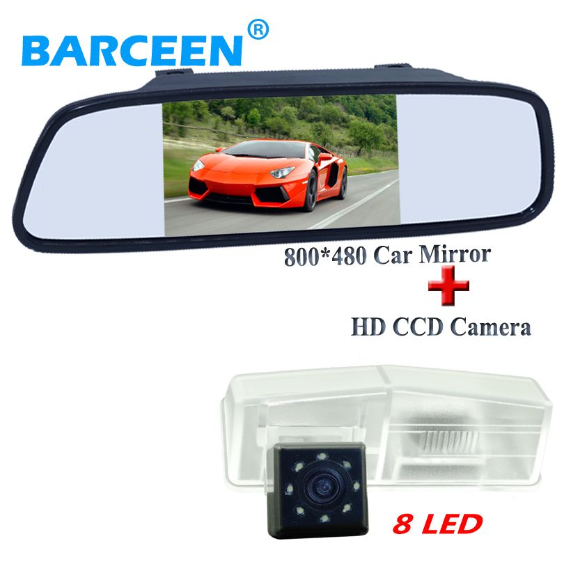 Higest Night Vision 170 Angle Car Parking Camera With 8 Led 5 Wide Screen Color Car Mirror Monitor Fit Fo Car Parking Camera Car Mirror Car Rear View Mirror