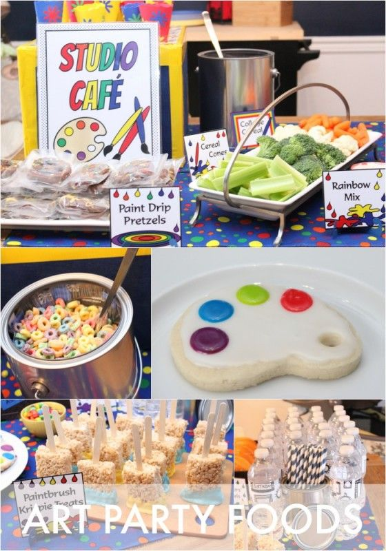 art party food table ideas a rainbow of easy to make treats