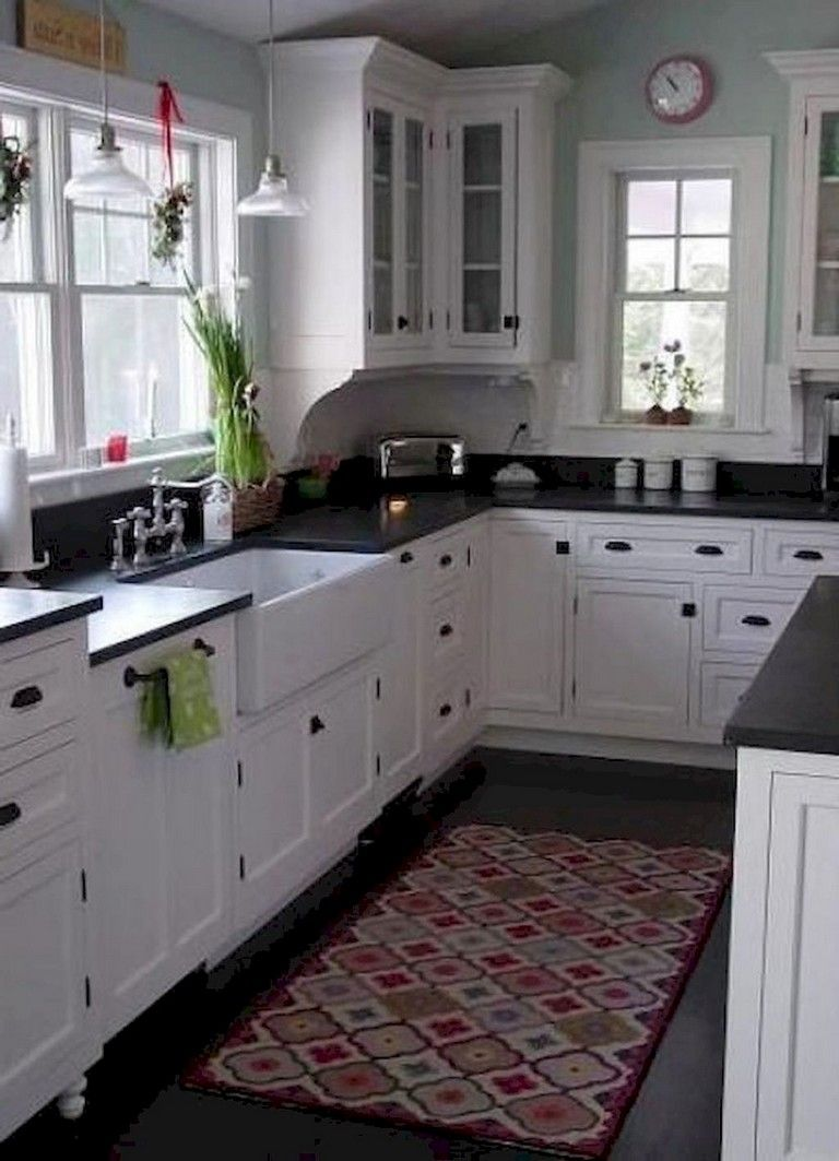 I Like The White With The Black And The Wall Color Good Combo 67 Cool Modern Farmhouse Kitche Kitchen Sink Design Kitchen Sink Decor Kitchen Remodel Small
