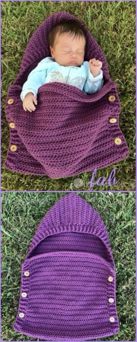 Crochet Newborn Sleep Sack Free Patterns | Diy häkeln, Diy kosmetik ...
