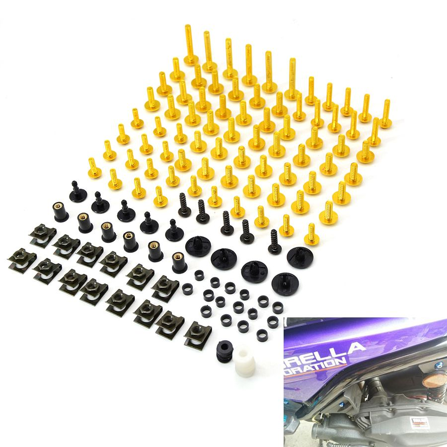 Motorcycle Accessories Fairing Bolt Screw Fastener Fixation For