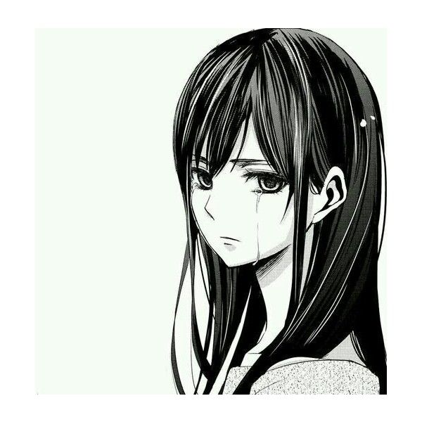 Sad Anime Girl Liked On Polyvore Featuring Anime My Polyvore
