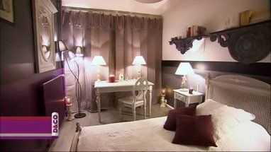 Chambre Prune Taupe Beige