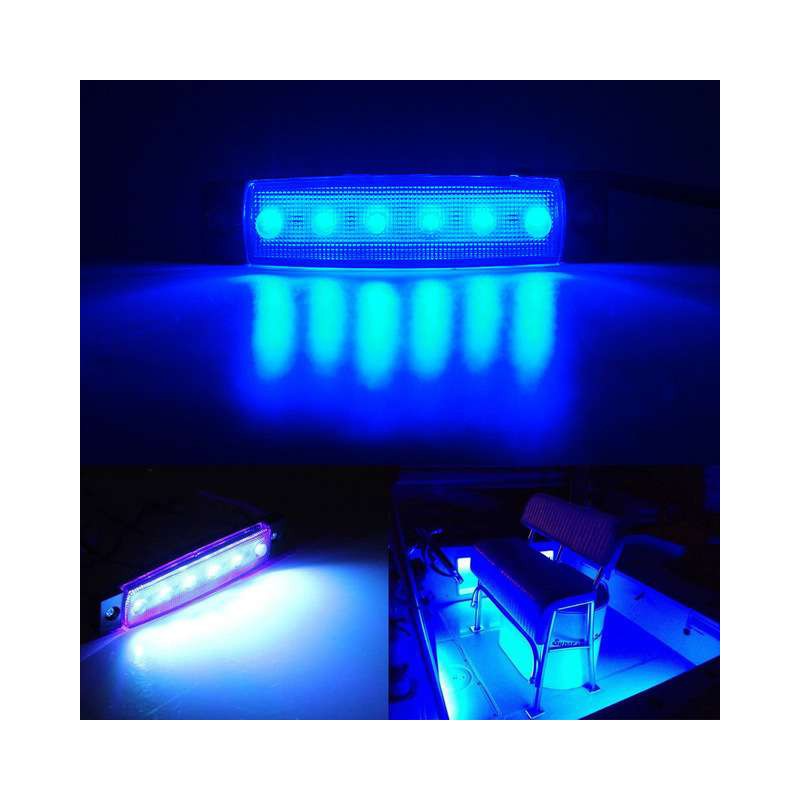 1 Pair Marine Led Light Courtesy Utility Strip For Boats 12 Volts Blue White Boat Interior Led Lights Sea Salt In 2020 Marine Led Lights Interior Led Lights Led Lights