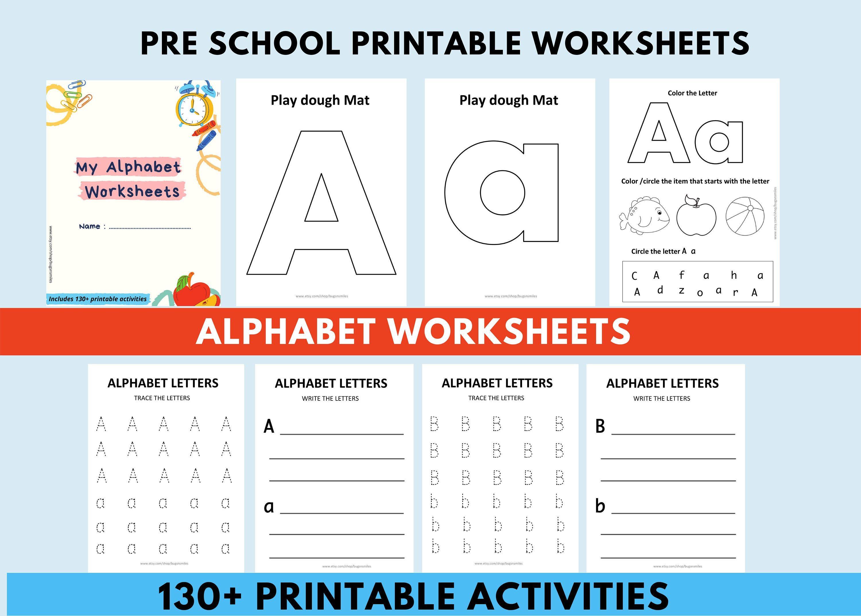 Alphabet Worksheets For Preschoolers Homeschooling