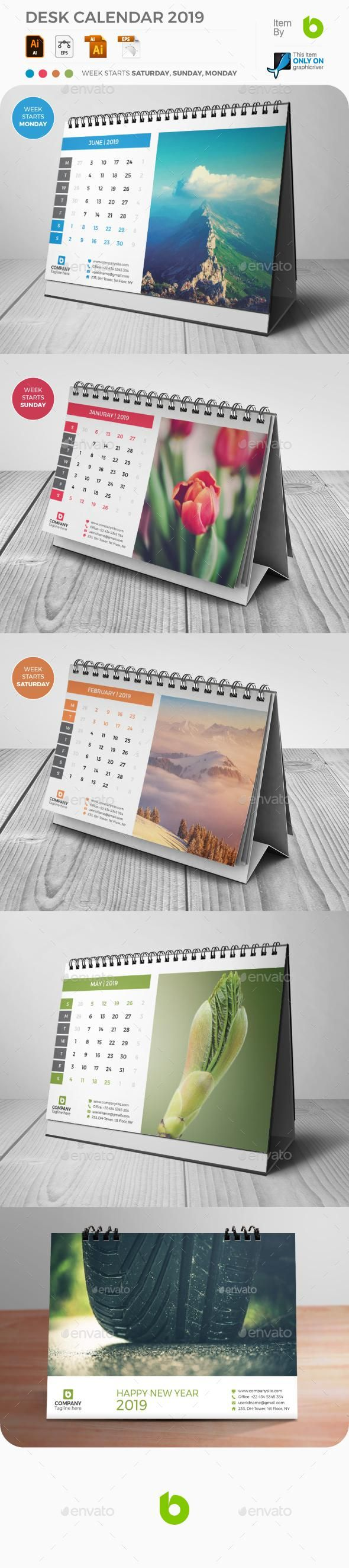 desk calendar 2018 for 7 graphicriver calendar stationery
