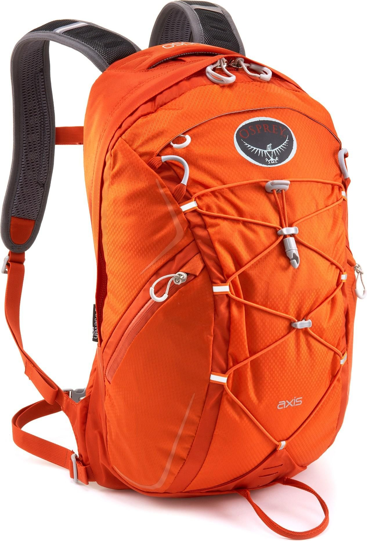 Bottom-padded sleeve protects Dad's laptop during the week and holds his hydration reservoir on weekend hikes. Osprey Axis Daypack. #REIGifts