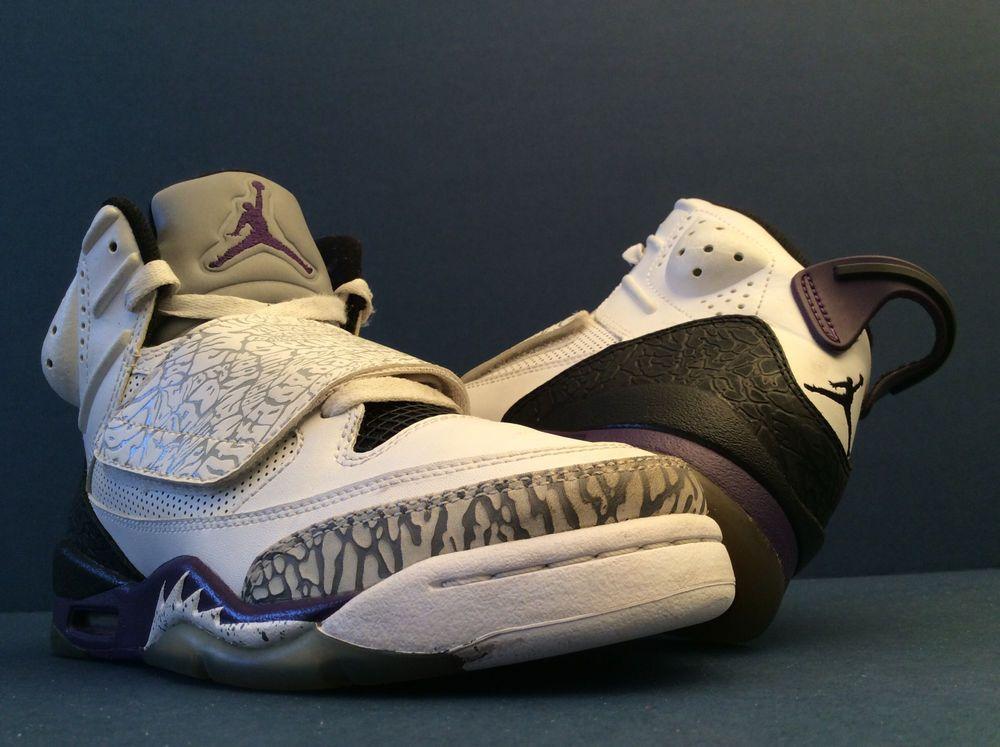 half off 84c05 1d793 AIR JORDAN SON OF MARS WHITE CEMENT GREY WHITE CLUB PURPLE  512246-106  Sz  4.5Y  Nike  BasketballShoes