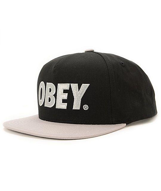 obey snapbacks black transparent hat online