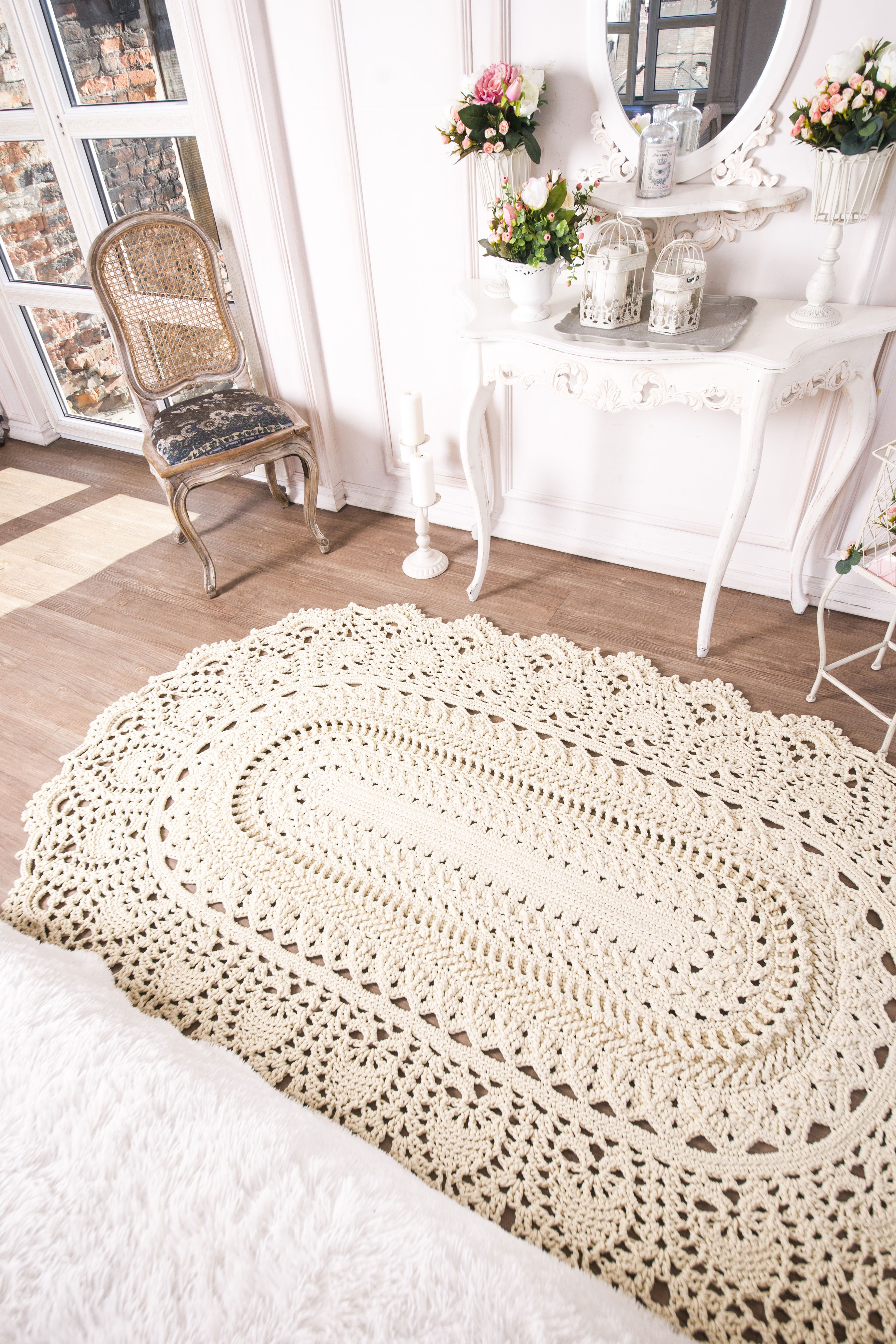 Tuturial Oval Crochet Rug Pattern