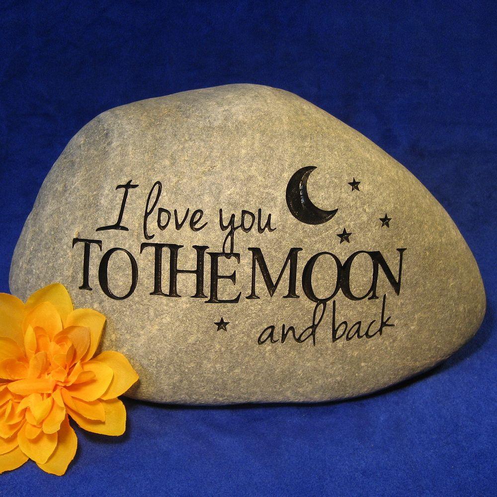wedding engraved stones, personalized wedding stone, engraved ...