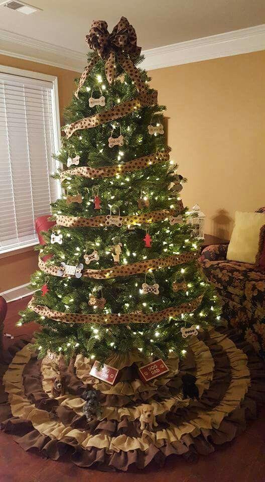 Our dog themed farmhouse style Christmas tree   Christmas ...