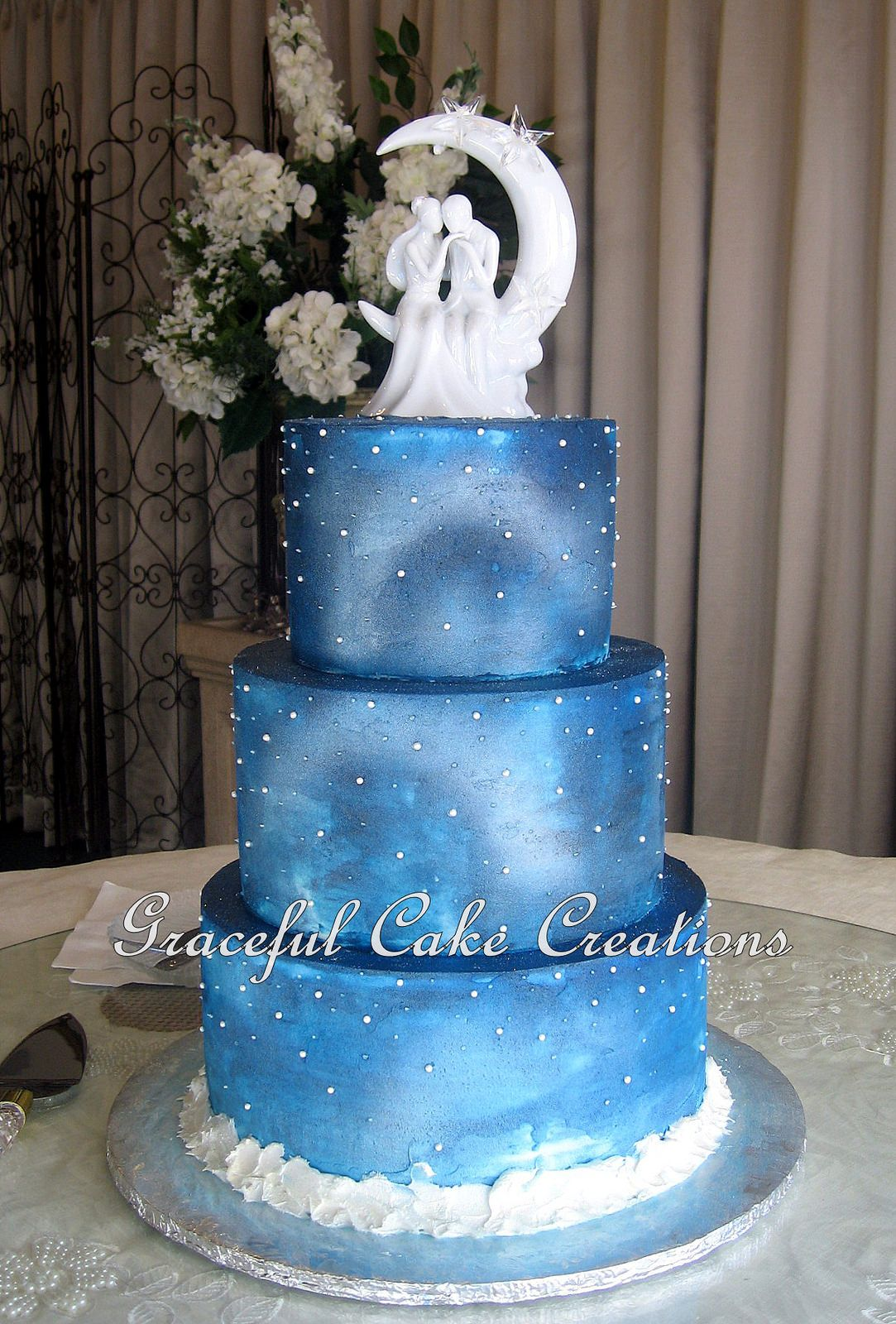 Elegant Starry Night Christmas Wedding Cake | Pinterest | Christmas ...