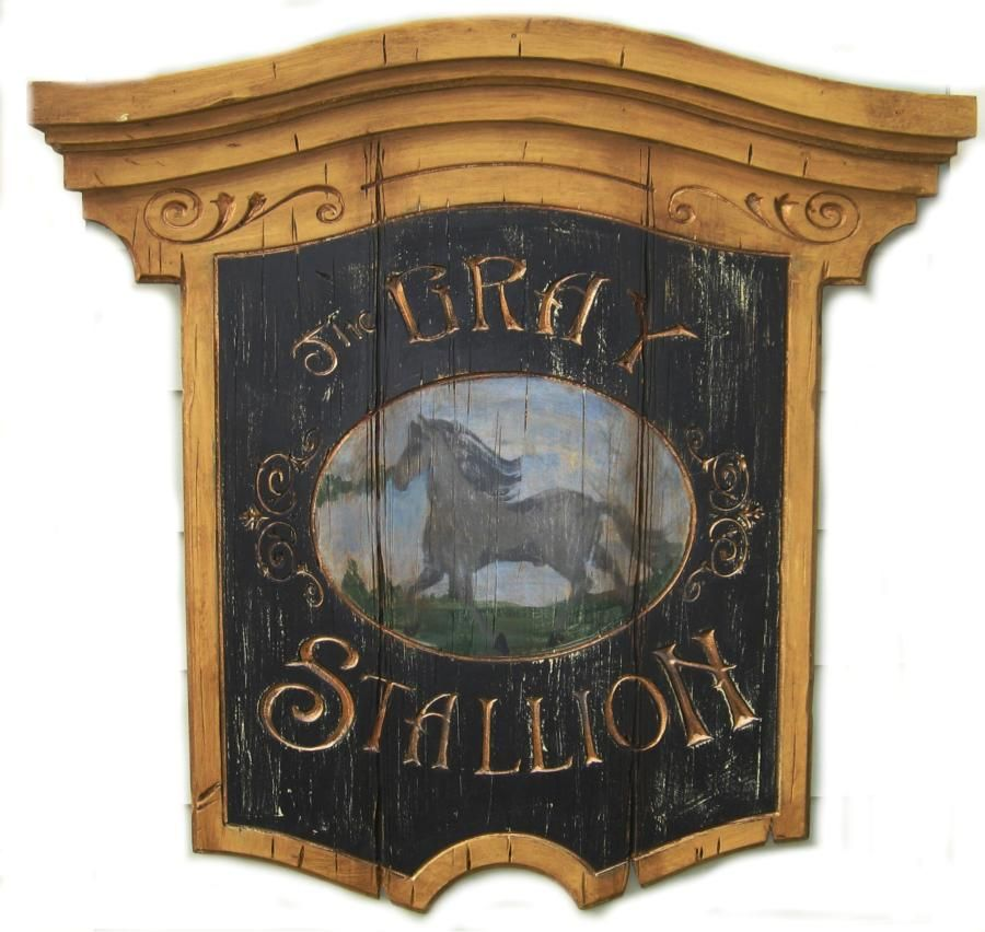 Horse And Equine Signs In A Vintage Style Vintage Wood Signs Antique Signs Pub Signs
