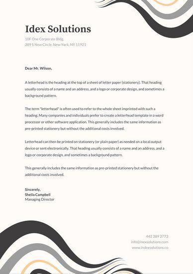 Grey abstract curves professional letterhead places to visit grey abstract curves professional letterhead spiritdancerdesigns
