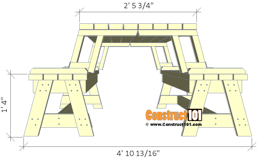 Folding Picnic Table Plans Easy To Build Projects Folding Picnic Table Plans Picnic Table Plans Folding Picnic Table