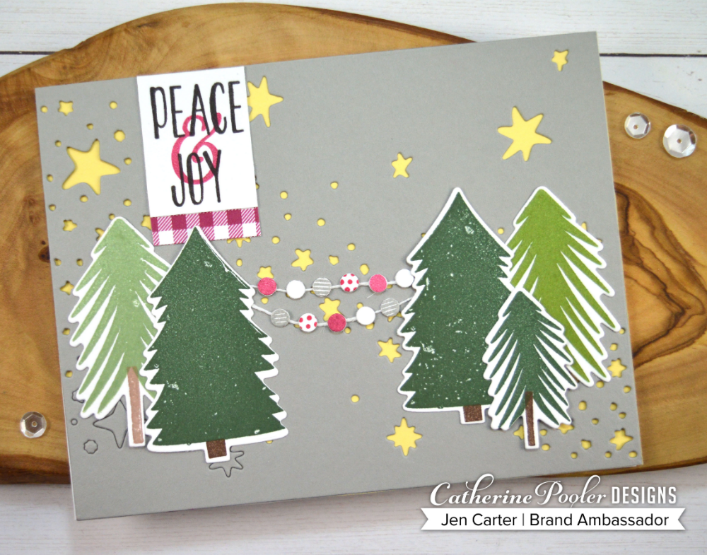 Starry Night Cover Plate Die Catherine Pooler Llc Christmas Tree Farm Christmas Cards Holiday Mix