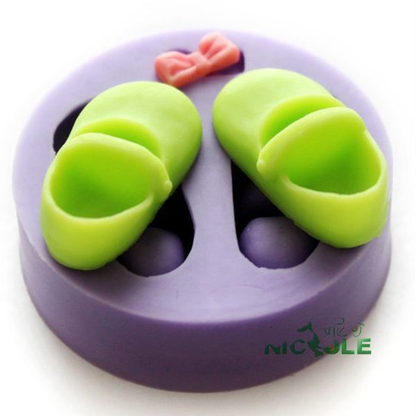 F0297 Silicone Shoes Cake Mould Fondant Soap Chocolate Baking Mould