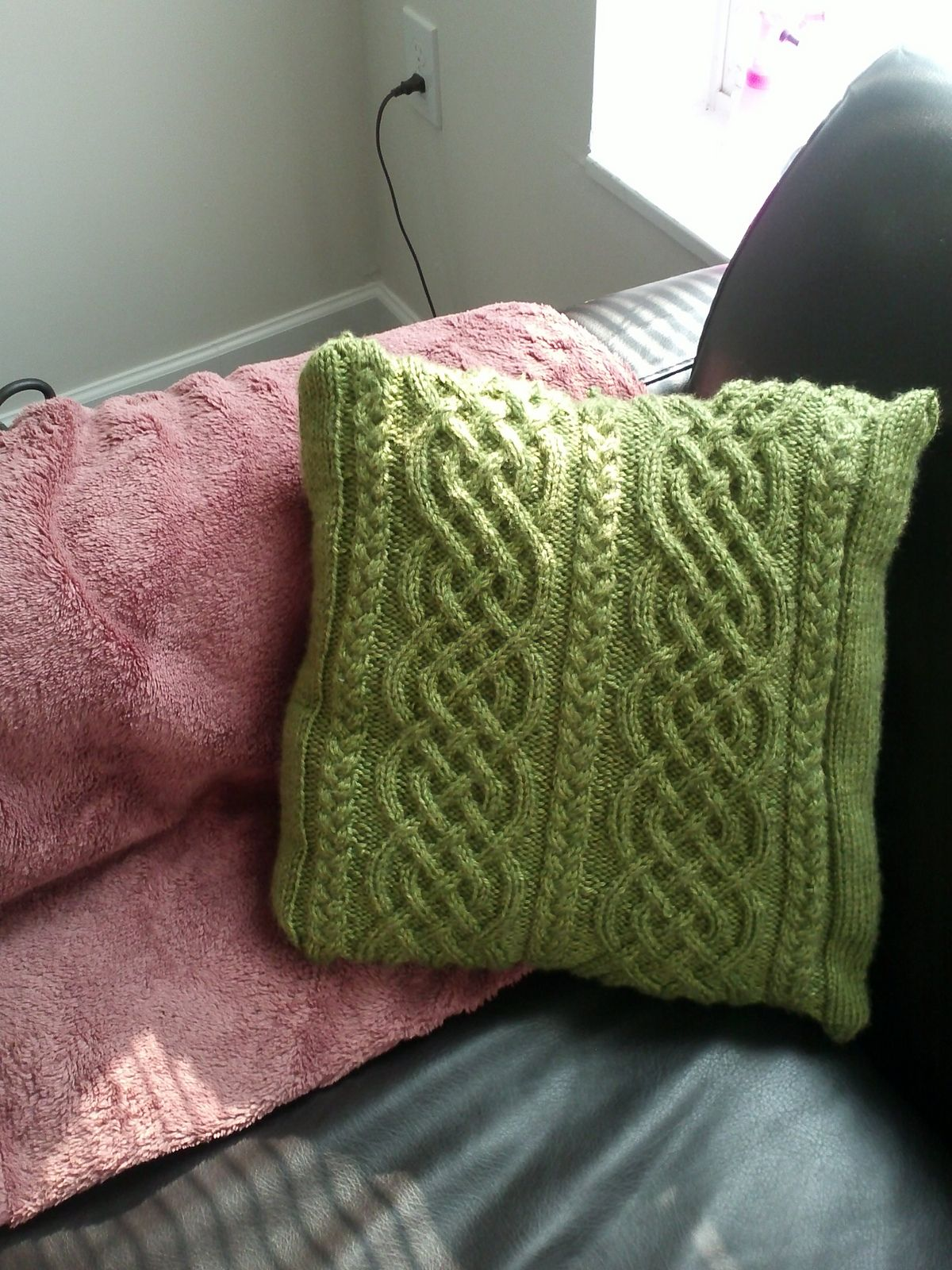 Ravelry: Celtic Knit Aran Pillow by Glenna C. (With images ...