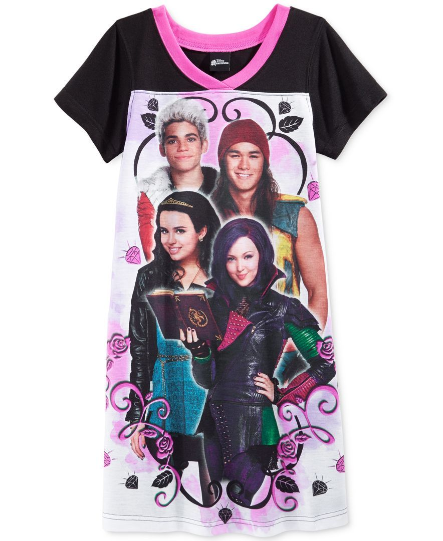 Disney Girls  or Little Girl s Descendants 4 of a Kind Nightgown ... 6e3be5f75