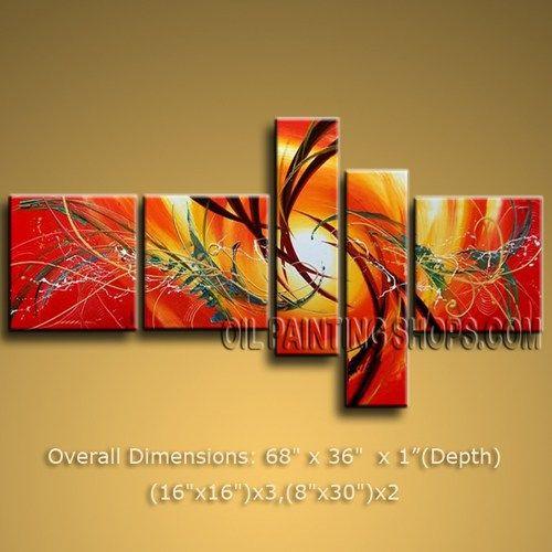 Multiple Canvas Wall Art stunning huge multiple panels canvas wall art modern art abstract
