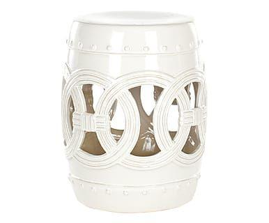Sgabello Da Giardino In Ceramica : Sgabello in ceramica ibiza bianco cm pasion side