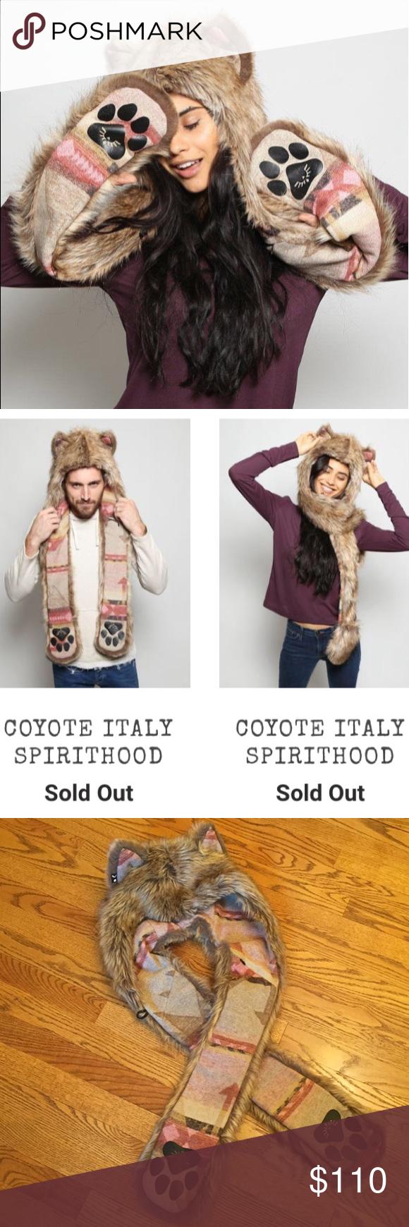 Rare SpiritHoods Coyote Italy Faux Fur Hood Faux fur
