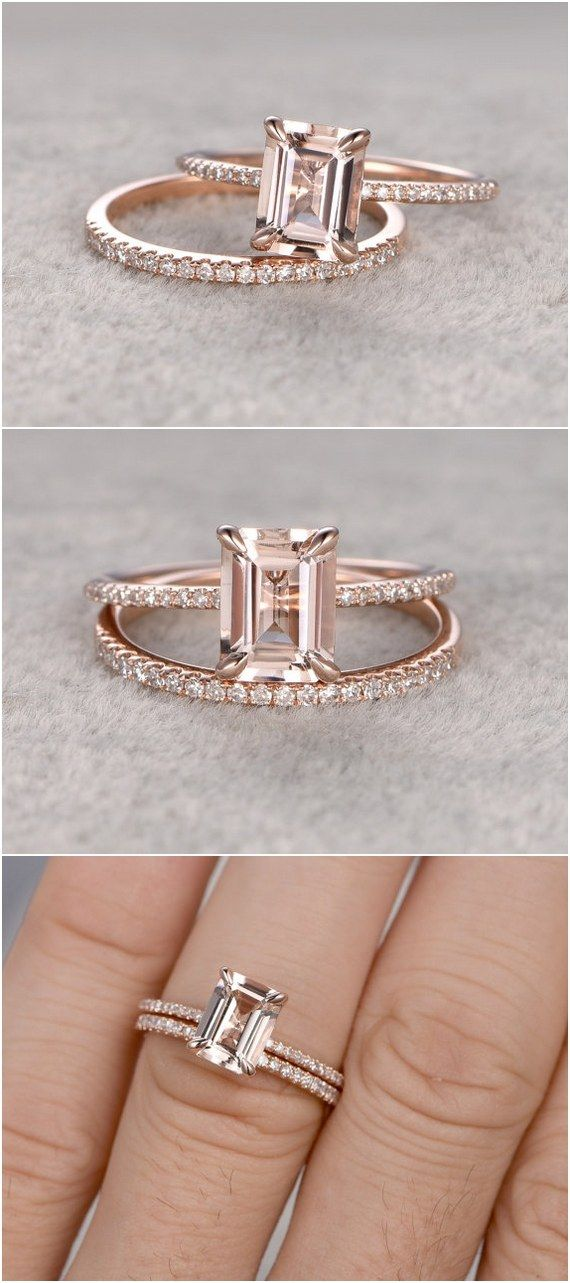 Etsy Finds 18 Emerald Cut Engagement Rings Gold Weddings