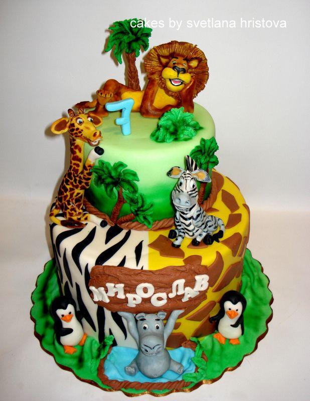 Marvelous Madagascar Cake Madagascar Cake Funny Birthday Cards Online Alyptdamsfinfo