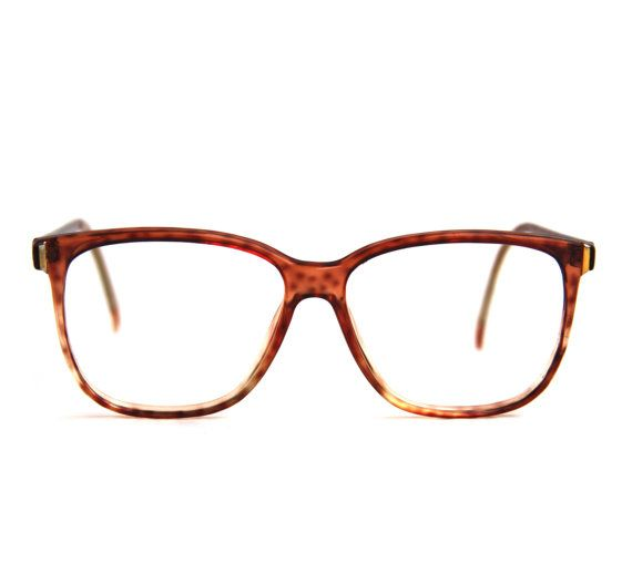 vintage 90s sergio valente spotty tortoise shell wayfarer rx frames prescription glasses men or women