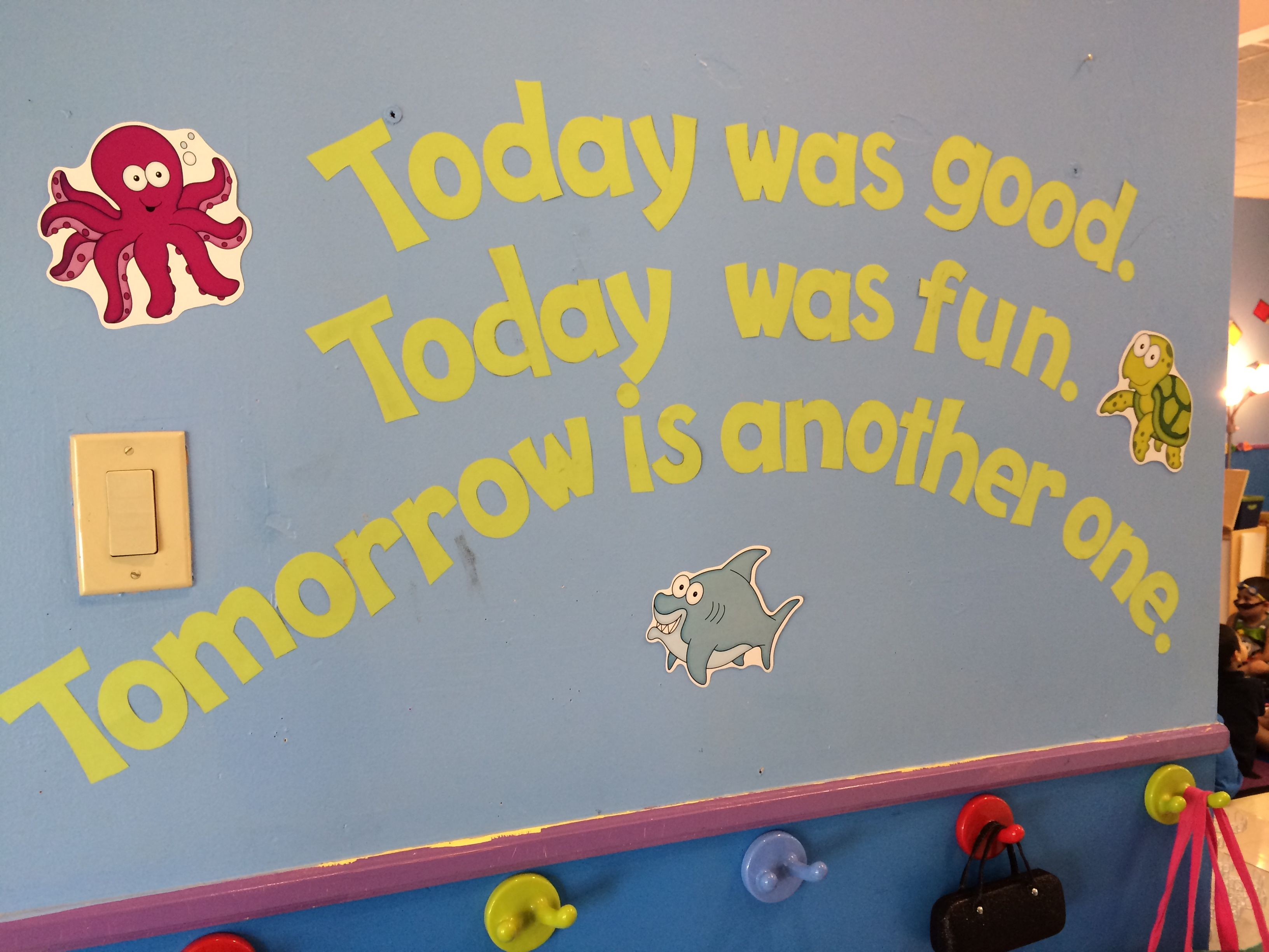 Dr. Seuss quote on wall