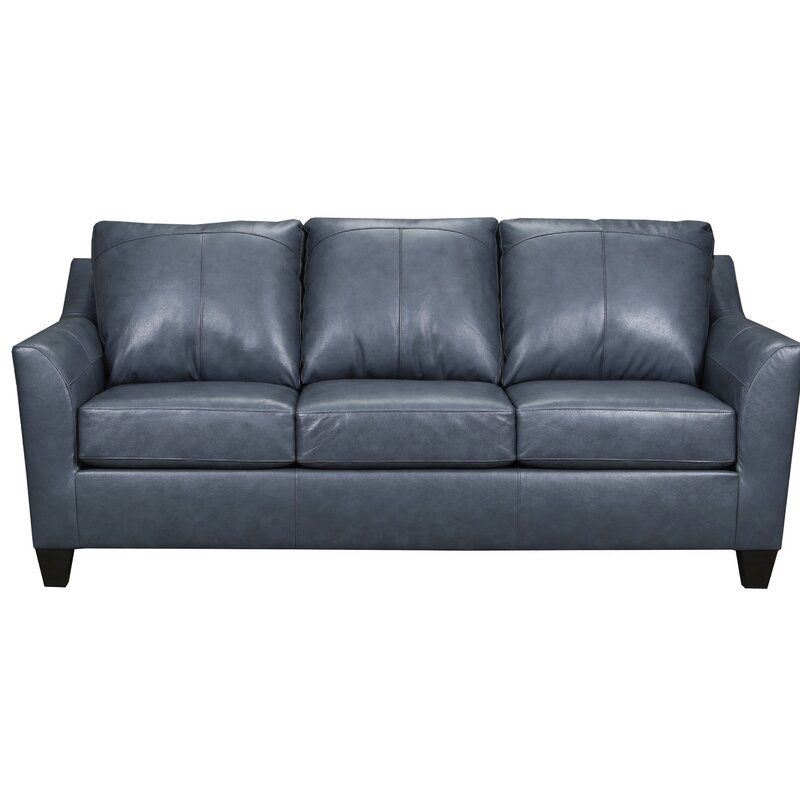Macaire Leather Sofa In 2020 Leather Sofa Bed Top Grain Leather Sofa Leather Sofa